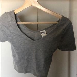 Gray cropped top